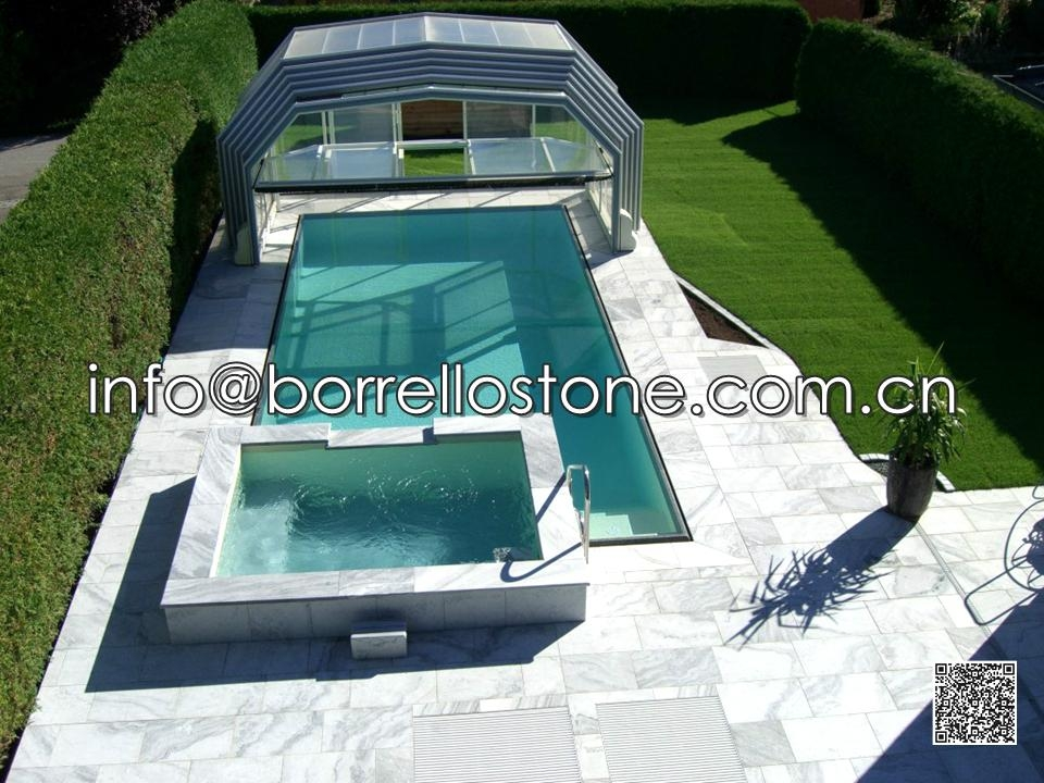 Grey Marble Pool Coping Paver