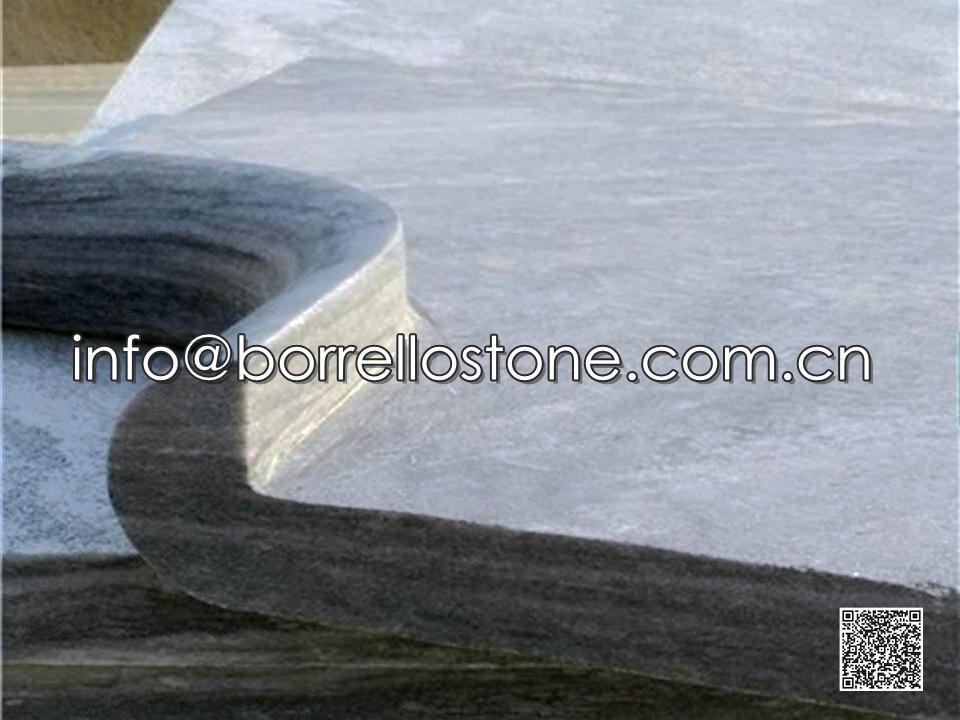 Grey Marble Swimming Pool Tops Corner