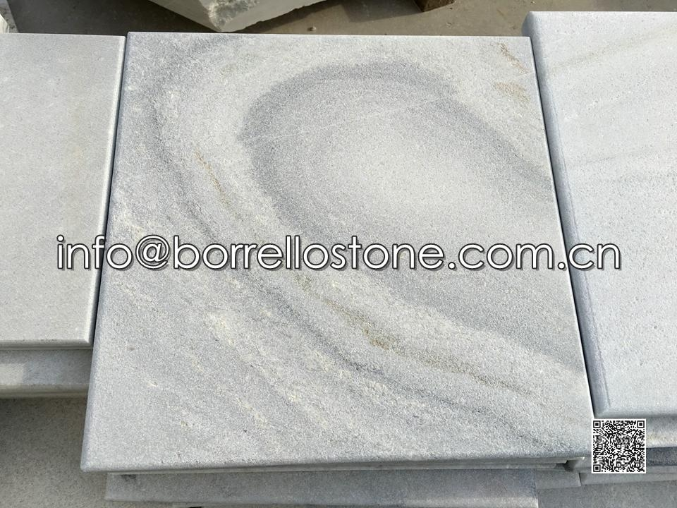 Sandblasted Grey Marble Paver