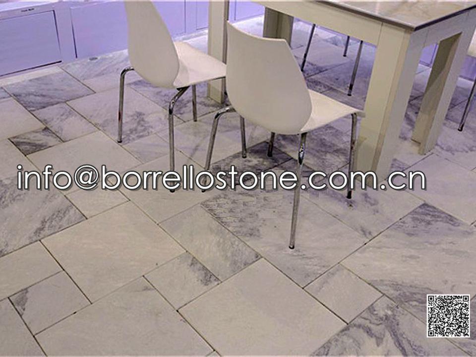 Sandblasted Grey Marble Flooring