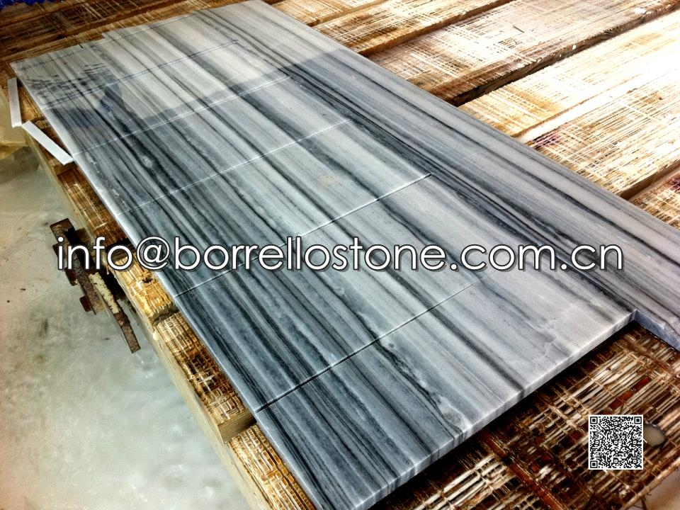 Strip Grey Marble Tiles