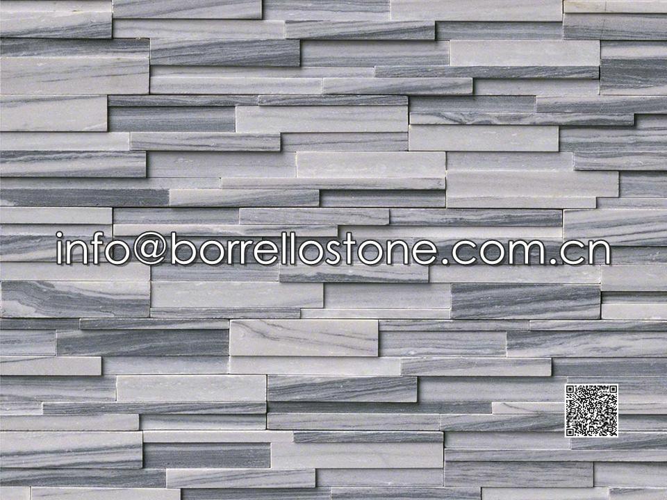 3D - Grey Marble Stacked Veneer