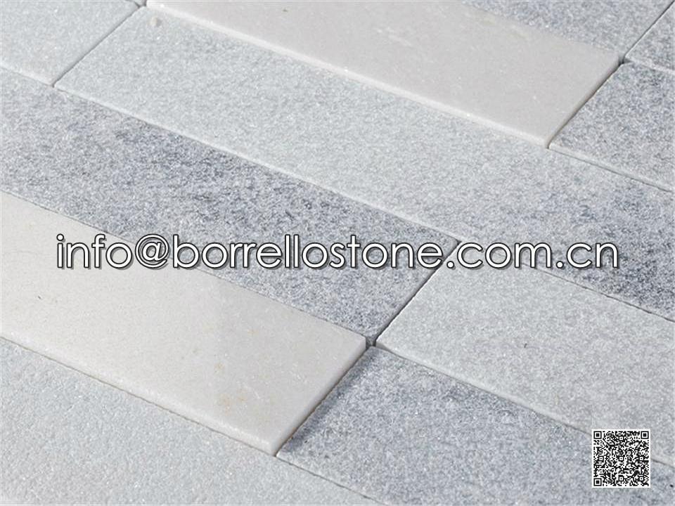 Sandblasted - Grey Marble Stacked Veneer