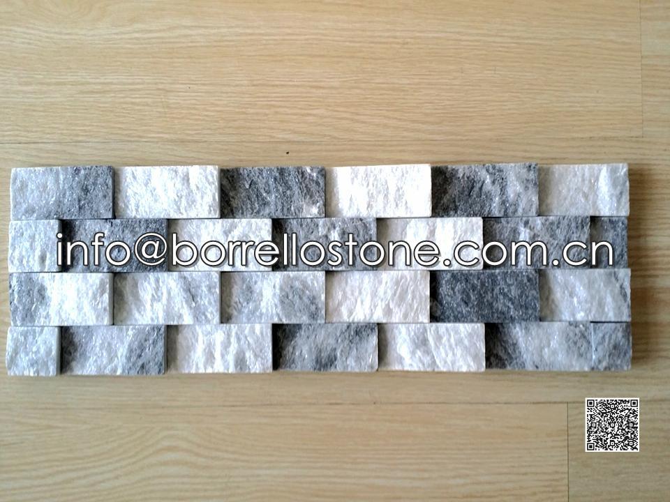 Split Face - Grey Marble Stacked Veneer