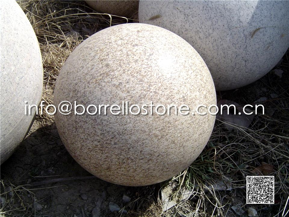 Rusty Yellow Granite Ball