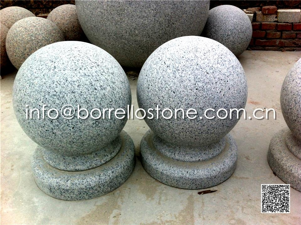 Sesame White Granite Ball
