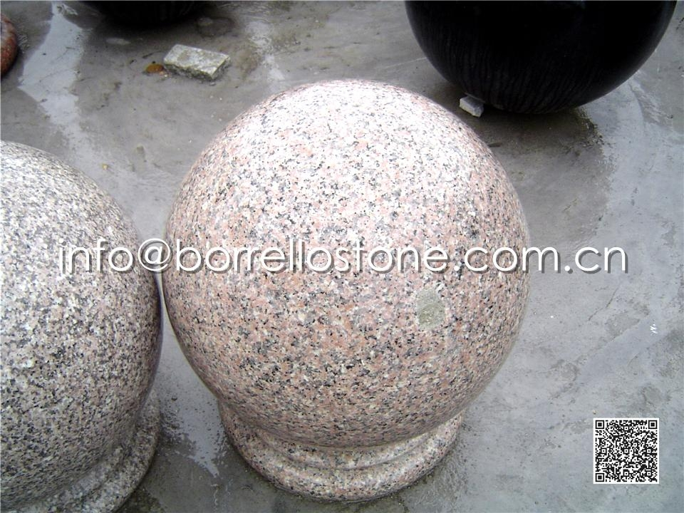 Cherry Flower Red Granite Ball