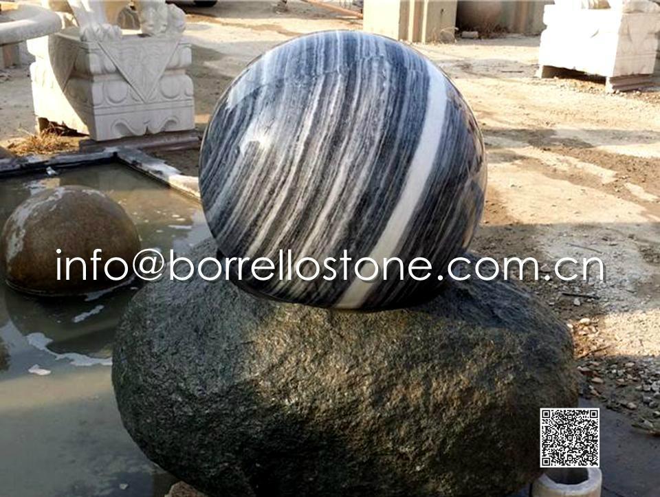 Stone Sphere Fountain - 3