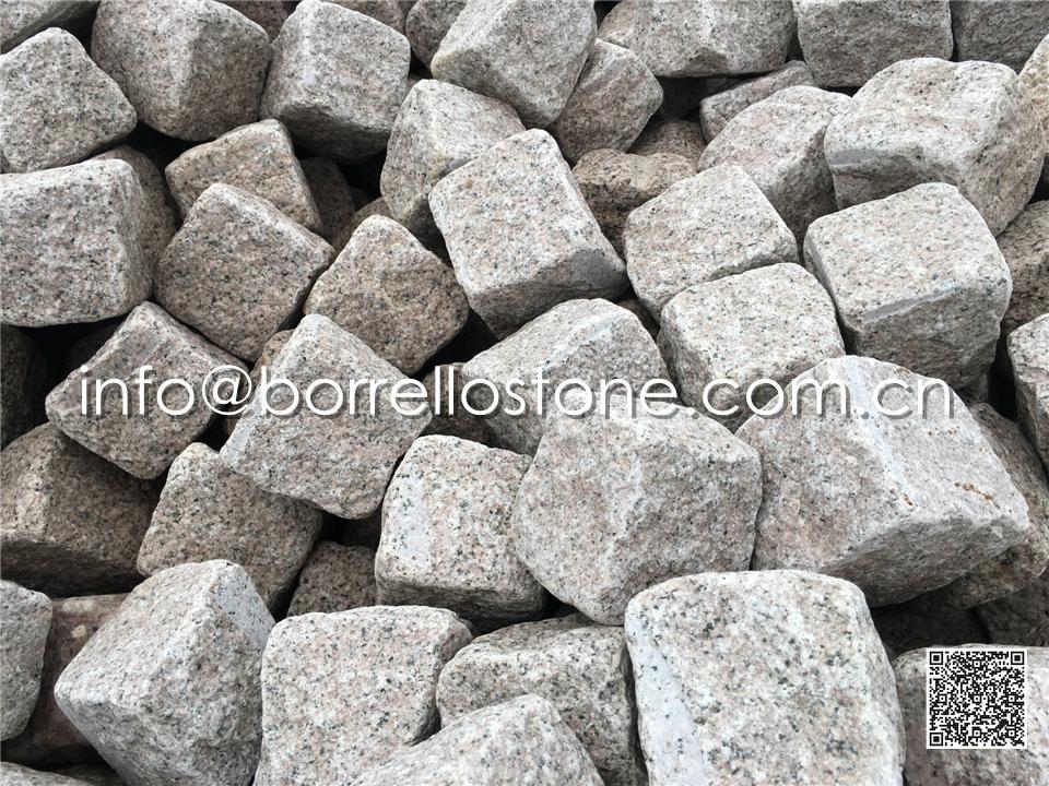 Pink Granite Cube