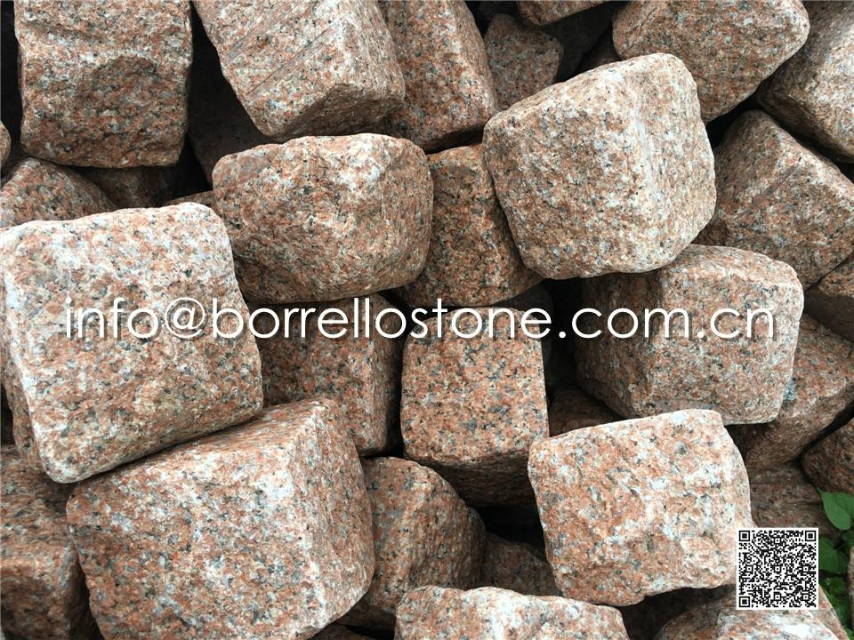 Red Granite Cube