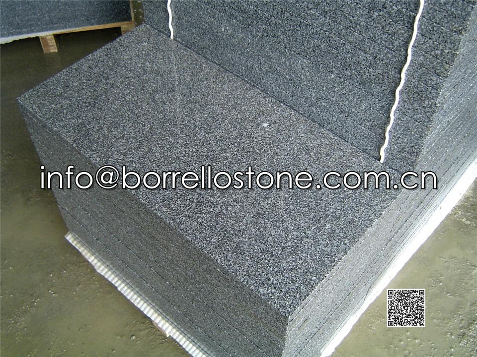 Sesame Black Granite Tiles (Flamed)