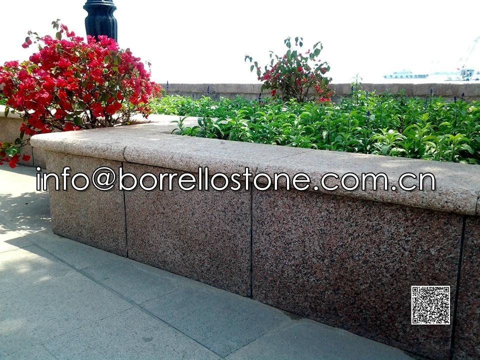 China Red Granite G386 Capstone