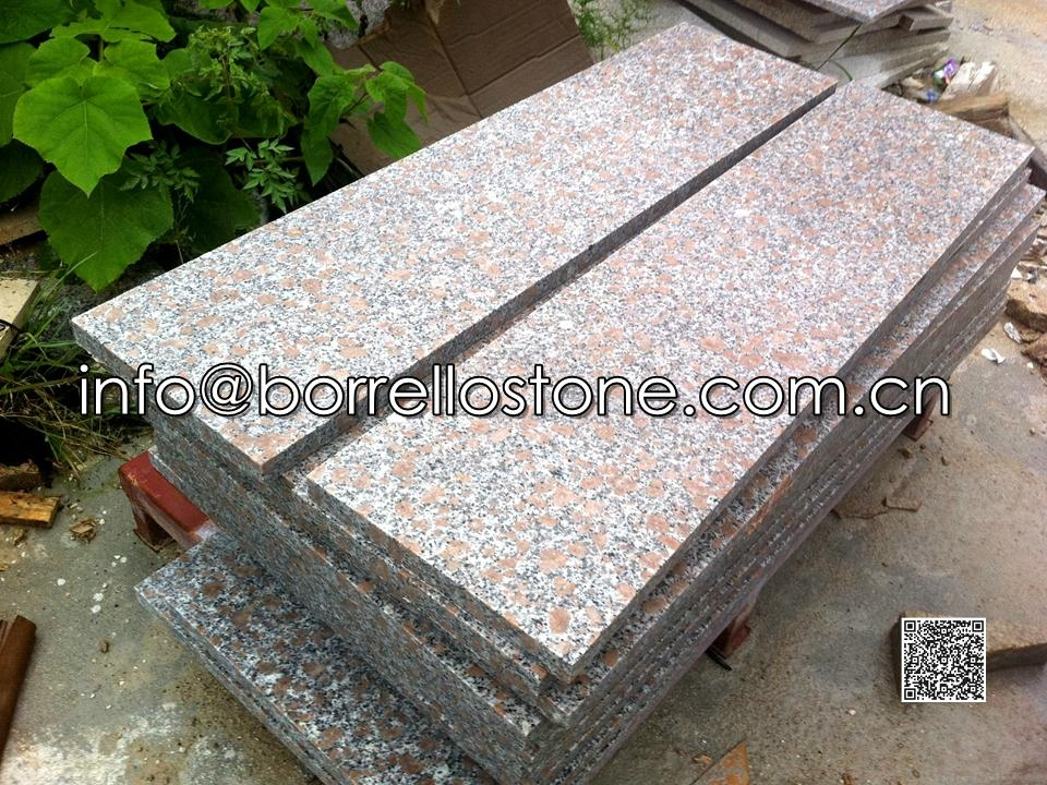 Pearl Red Granite G368 Stair Tread And Riser