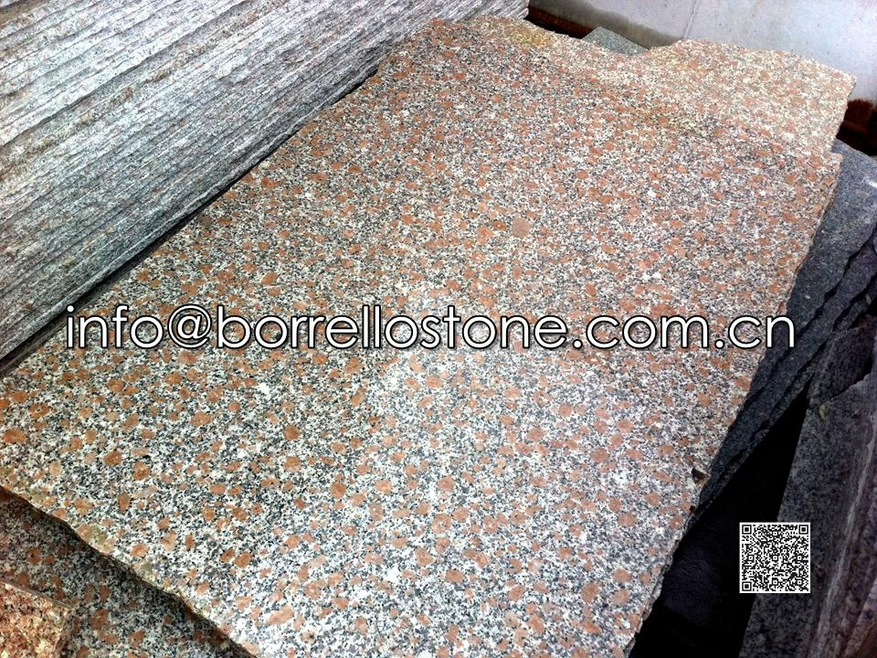 Pearl Red Granite G368 Slabs