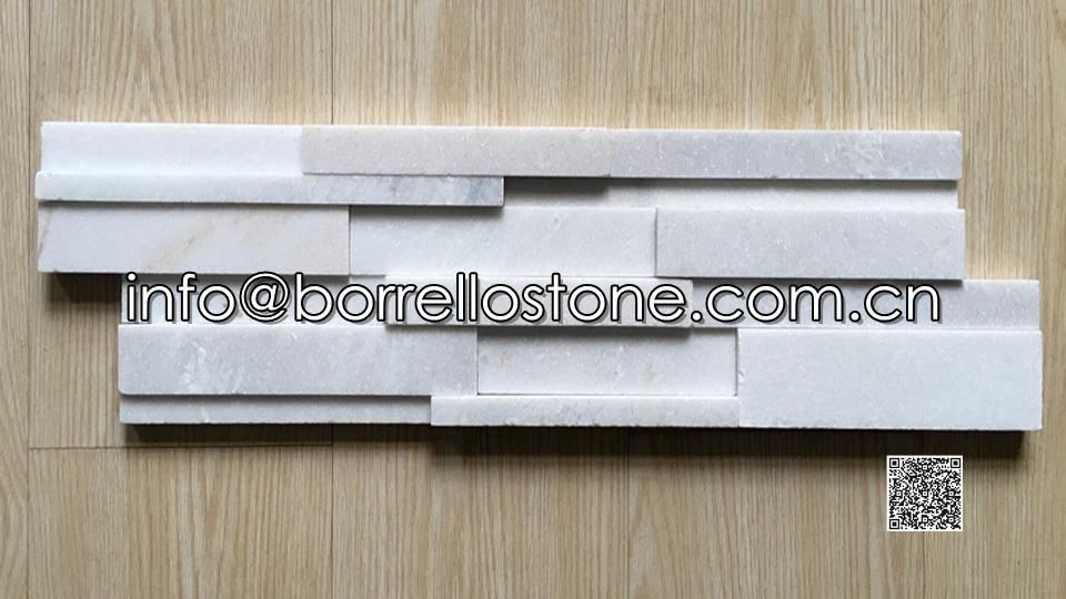 Stacked Stone (white marble) - 01