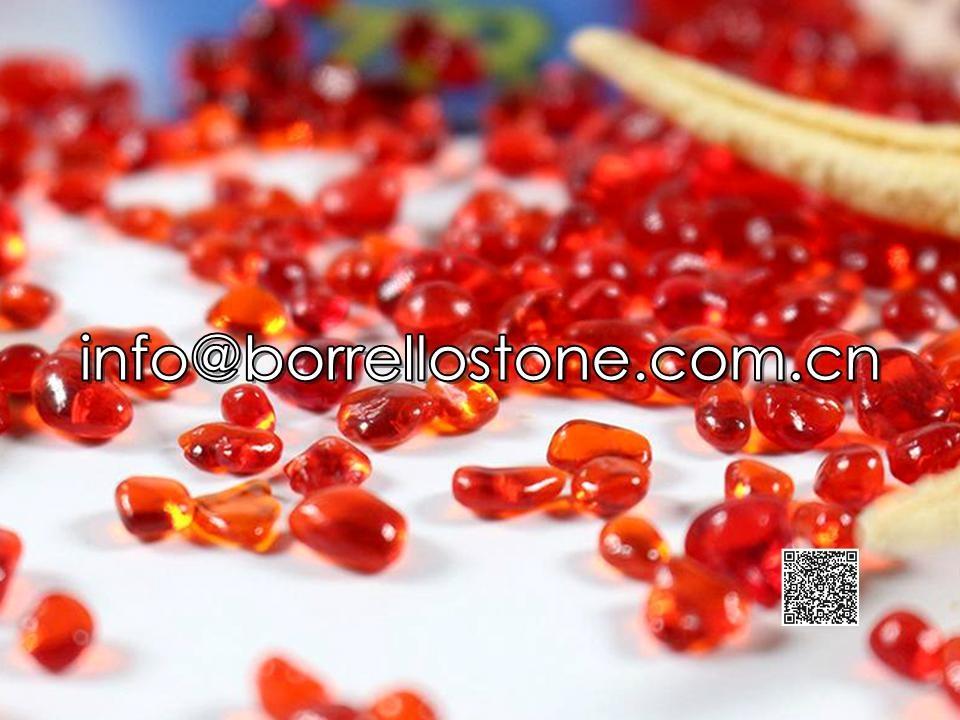 Irregular glass beads - Red