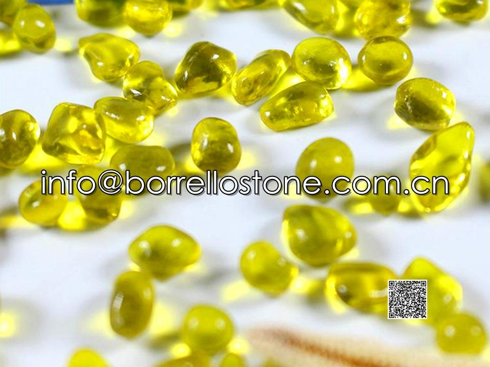 Irregular glass beads - Yelloew