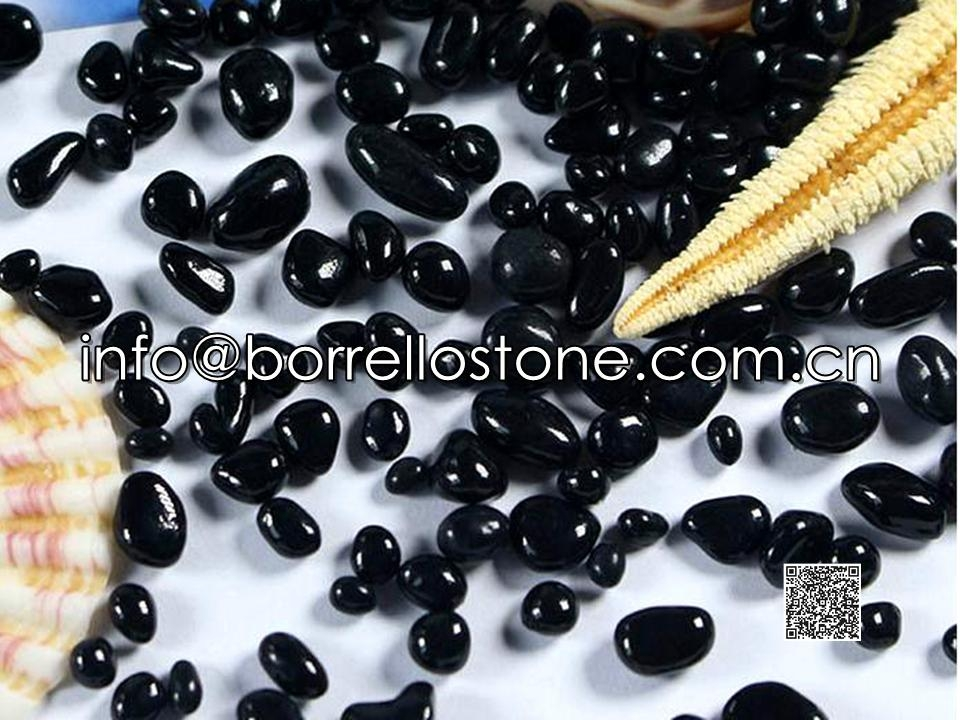 Irregular glass beads - Black