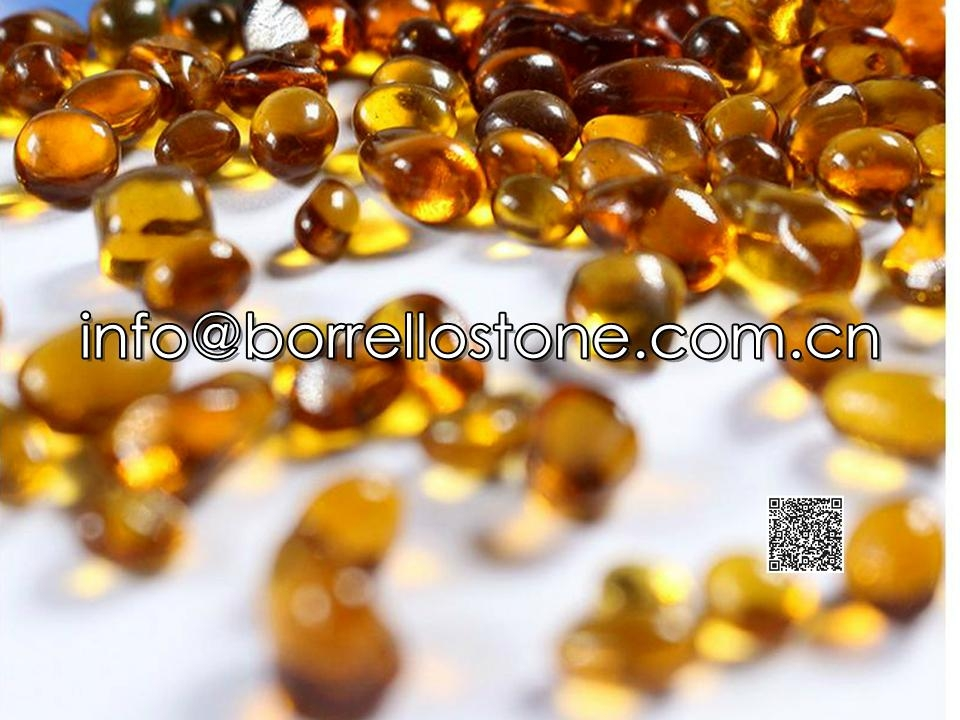Irregular glass beads - Orange