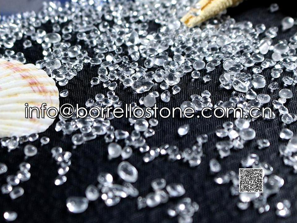 Irregular glass beads - Crystal white