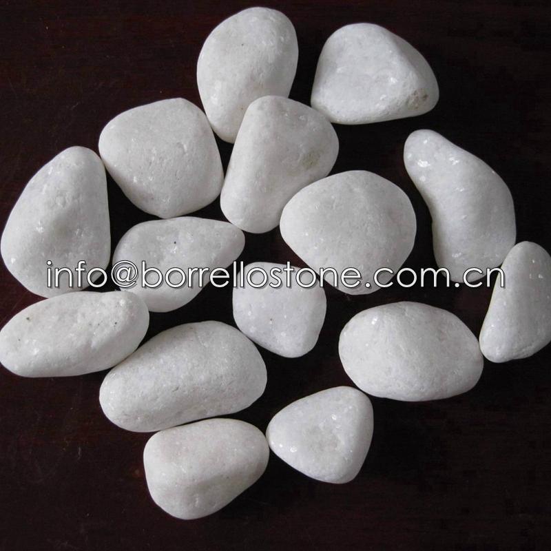 White pebble stone
