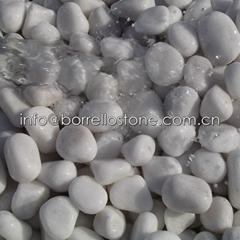 white round pebble stone