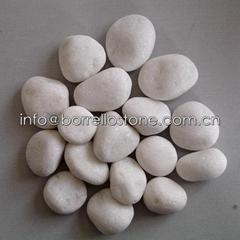 30-50mm white pebble stone