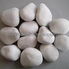 white cobble stone