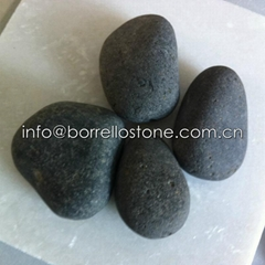 black basalt pebble stone