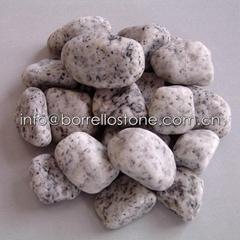 sesame white granite pebble