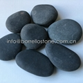 dark grey flat pebble stone
