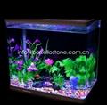 dyed pebble aquarium stone