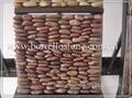 polished stone pebble mosaic