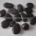 black polished pebble stone