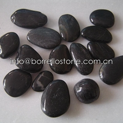 black polished pebble st