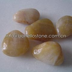 yellow polished pebble s
