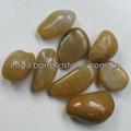 yellow polished pebble stone
