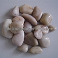 white polished pebble stone