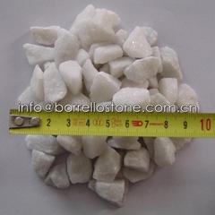 white gravel for garden
