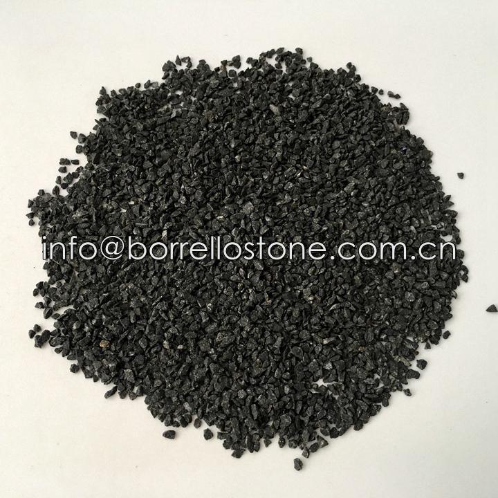 black stone sand
