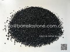 glitter black stone sand