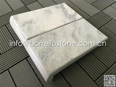 grey marble pool edge
