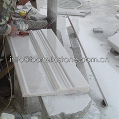 white marble basaboard