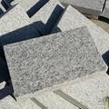 flamed white granite tile