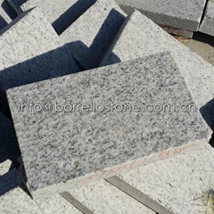 flamed white granite til