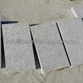 flamed white granite paver