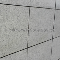 flamed white granite wall cladding