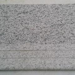 white granite step stair