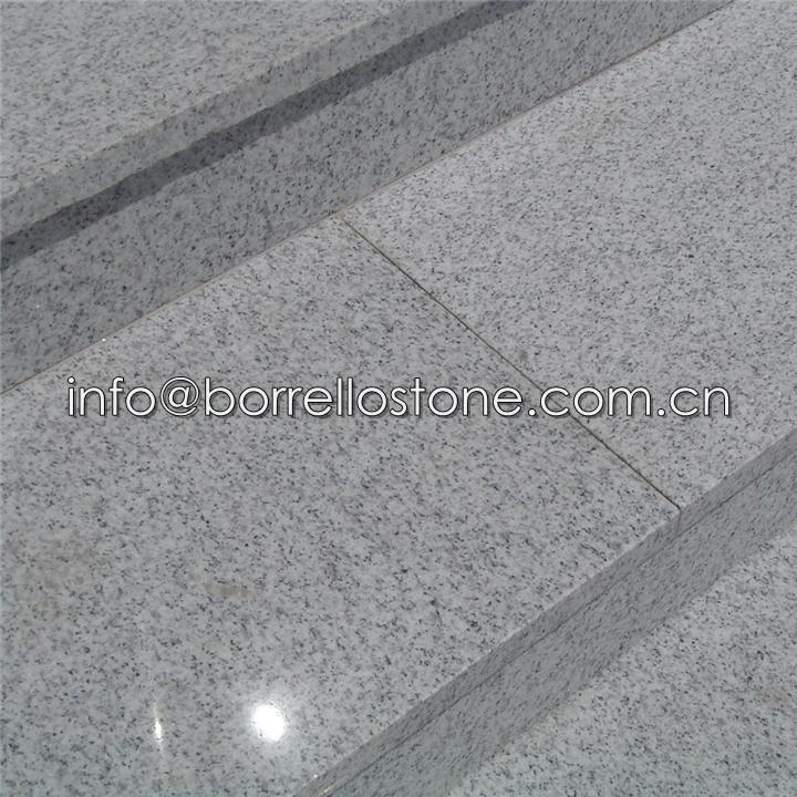 white granite step stair 4