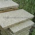 bush hammered yellow granite